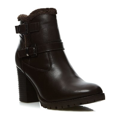 Kickers SKYLLIE BOTTINES EN CUIR MARRON