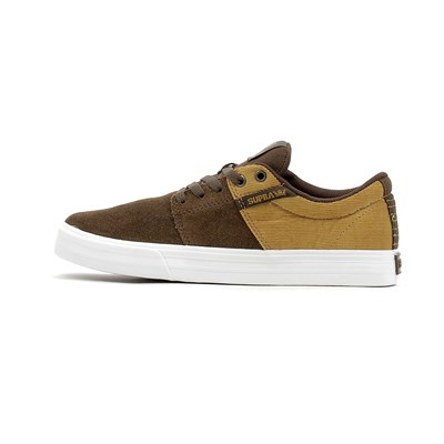Supra STACKS II VULC BASKETS BASSES MARRON Chaussure France_v4147