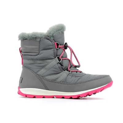 Sorel YOUTH WHITNEY SHORT LACE BOTTES GRIS Chaussure France_v10515