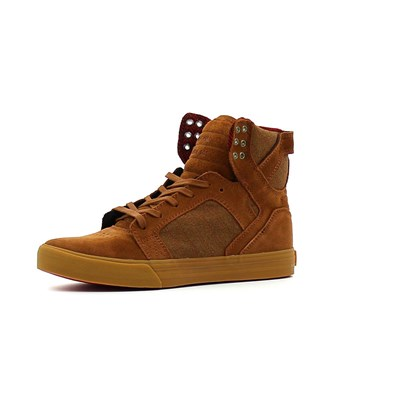 Supra SKYTOP BASKETS MONTANTES MARRON Chaussure France_v6966