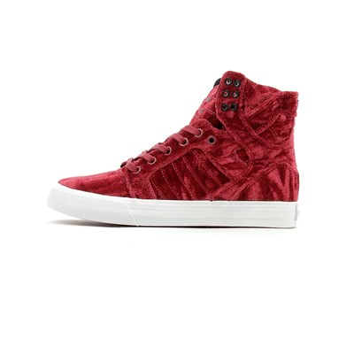 Supra WMNS SKYTOP BASKETS MONTANTES ROUGE Chaussure France_v6887