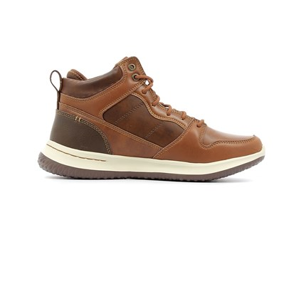 Skechers DELSON RALCON BASKETS MONTANTES MARRON Chaussure France_v9549