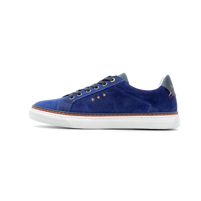 Pantofola d'Oro NAPOLI SUEDE UOMO LOW BASKETS BASSES BLEU Chaussure France_v7776