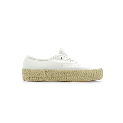 Vans UA AUTHENTIC PLATFORM ESPADRILLE BASKETS BASSES BLANC Chaussure France_v9329