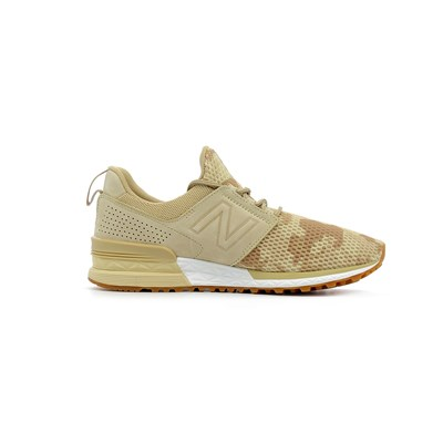 New Balance 574 SPORT BASKETS BASSES BEIGE Chaussure France_v12649