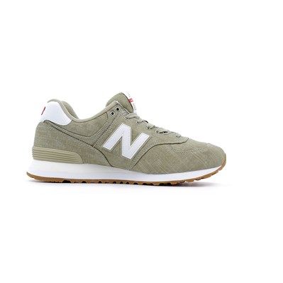 New Balance 574 BEACH CHAMBRAY BASKETS BASSES BEIGE Chaussure France_v10203