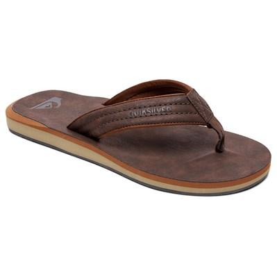 Quiksilver CARVER NUBUCK TONGS MARRON
