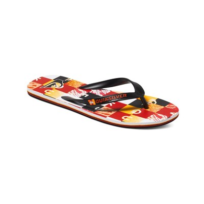 Quiksilver MOLOKAI CHECK REMIX TONGS ROUGE Chaussure France_v563