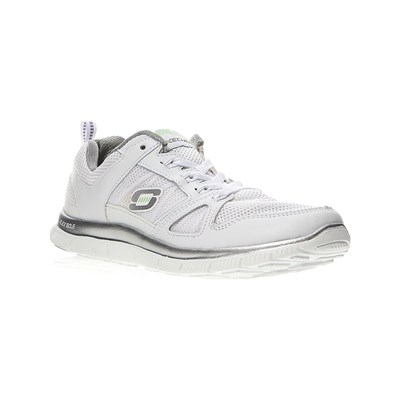 Skechers CALZATURE DA SPORT IN PELLE BI-MATERIALE BIANCO