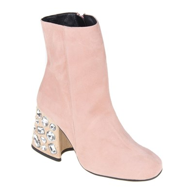 Sessa BOTTINES EN CUIR ROSE Chaussure France_v11873