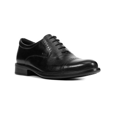 Geox UOMO CARNABY A DERBY IN PELLE NERO