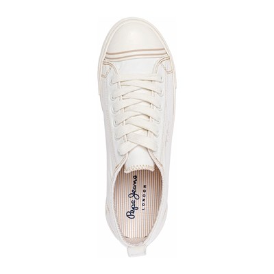 Baskets Gery 3010368 Jeans Caoutchouc Footwear Blanc Bass Basses Pepe OBvPwqq