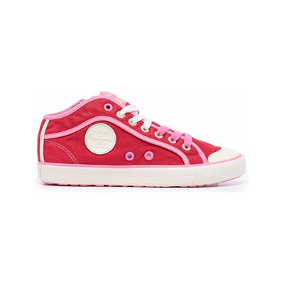 Chaussures Femme | Pepe Jeans Footwear INDUSTRY BASIC 19 BASKETS BASSES ROSE