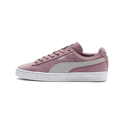 Puma CLASSIC ELDERBERR BASKETS EN CUIR ROSE Chaussure France_v3423