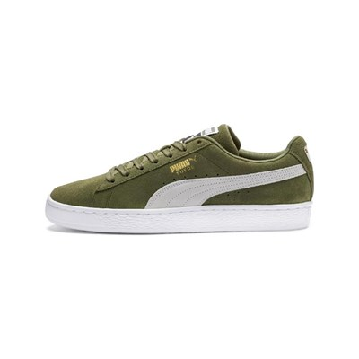 Puma CLASSIC OLIVINE BASKETS EN CUIR VERT Chaussure France_v5255