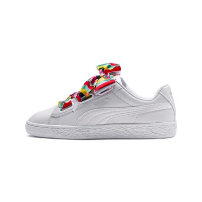 Puma HEART GEN BASKETS BASSES BLANC