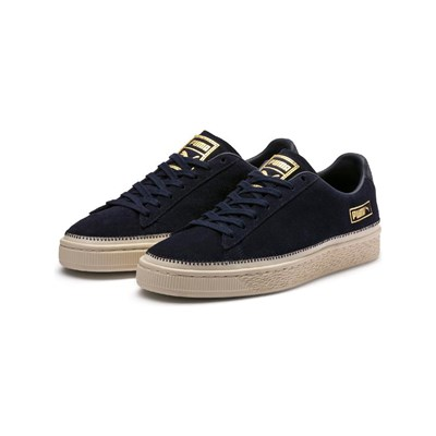 Puma ARROWHEAD BASKETS EN CUIR BLEU MARINE Chaussure France_v6679
