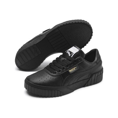 Puma CALI FASHION BASKETS EN CUIR NOIR Chaussure France_v7333