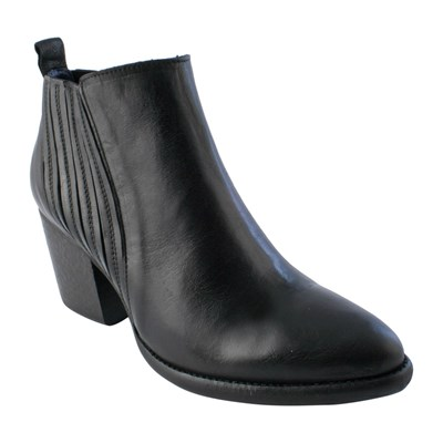3077230 Noir Exclusif Cuir Bottines Caoutchouc En Shirley Paris qvwzX0