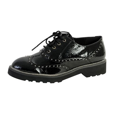 The Divine Factory QL3424 DERBIES NOIR