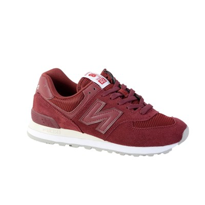 New Balance ML574 BASKETS BASSES ROUGE Chaussure France_v8173