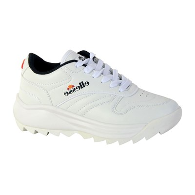 Ellesse RETRO WOMAN BASKETS BASSES BLANC Chaussure France_v7667