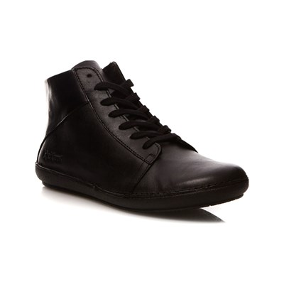Kickers FOWNO SNEAKERS ALTE IN PELLE NERO