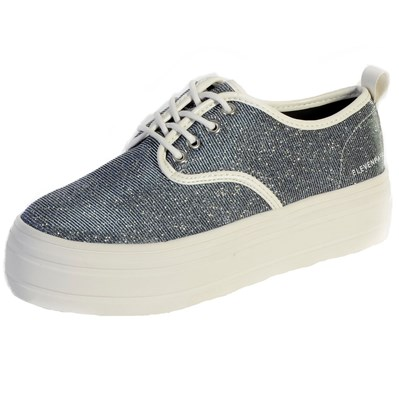 Eleven Paris SKY GLITTER BASKETS MONTANTES BLEU Chaussure France_v2874