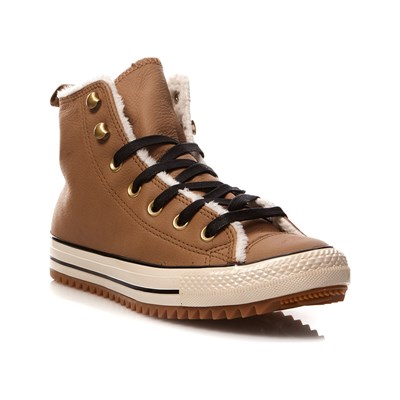 Converse CHUCK TAYLOR ALL STAR HIGH SNEAKERS AUS LEDER HASELNUSS