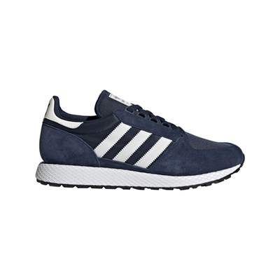 adidas Originals FOREST GROVE SNEAKERS IN PELLE BLU MARINE