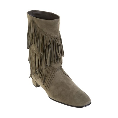 Roger Vivier BOTTINES EN CUIR TAUPE Chaussure France_v17766