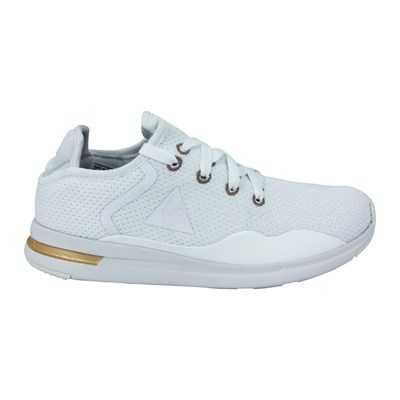 Le Coq Sportif SOLAS WOMEN SPARKLY LEATHER BASKETS BASSES BLANC Chaussure France_v7328
