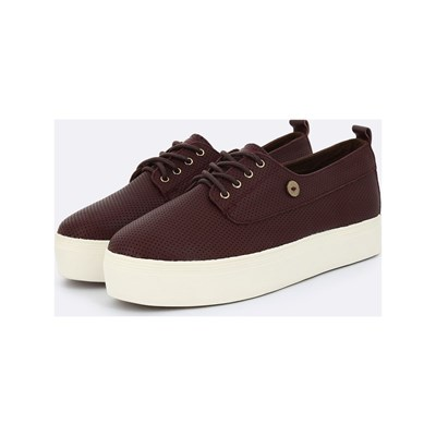Faguo FIGLONE TENNIS EN CUIR MARRON Chaussure France_v2511