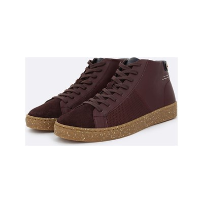 Faguo ASPEN BASKETS MONTANTES EN CUIR BORDEAUX Chaussure France_v3964