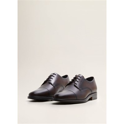Mango Man DERBIES EN CUIR MARRON