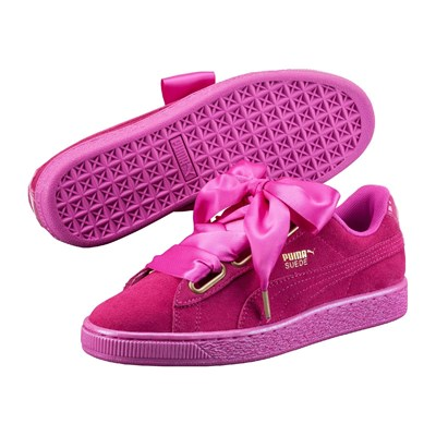 Puma BASKETS EN CUIR FUCHSIA Chaussure France_v2993