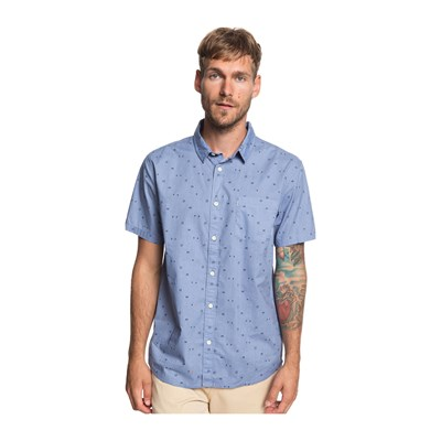 Quiksilver ROCK THE ROAD CAMICIA MANICHE CORTE BLU