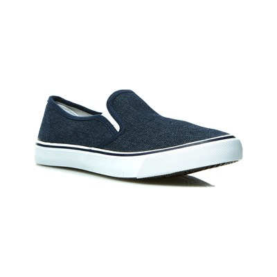 Oms SLIP-ON BLEU JEAN Chaussure France_v158