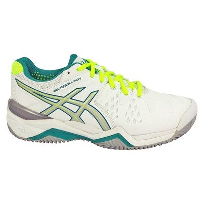 Asics GEL RESOLUTION 6 CHAUSSURES DE TENNIS BLANC