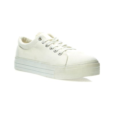 Oms BASKETS BASSES BLANC Chaussure France_v204