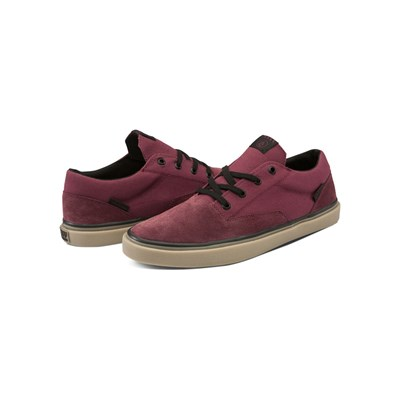 Volcom DRAW LO SUEDE BASKETS BASSES ROUGE