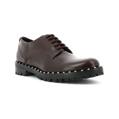 Kickers ROLLIE DERBIES EN CUIR BORDEAUX Chaussure France_v6041