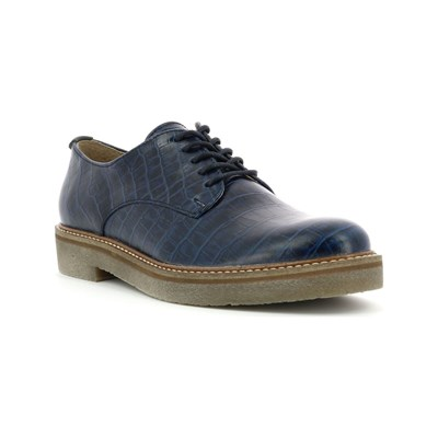 Grande sconto Kickers OXFORK DERBY IN PELLE BLU SCURO