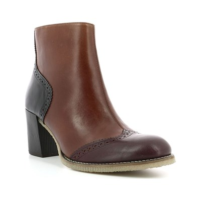 Kickers MISTY BOTTINES EN CUIR BORDEAUX Chaussure France_v5775