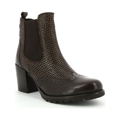 Kickers AUGUSTA BOTTINES EN CUIR MARRON Chaussure France_v5587
