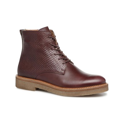 Kickers OXIGENO BOTTINES EN CUIR BORDEAUX Chaussure France_v6605