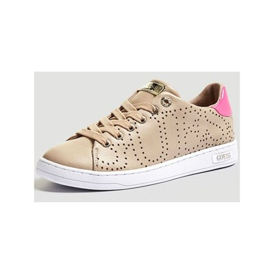 Guess CARTERR BASKETS EN CUIR NUDE Chaussure France_v6589