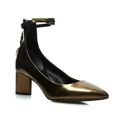 Chaussures Femme | What For ESCARPINS EN CUIR BRONZE