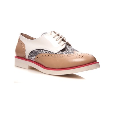 COSMOPARIS ELA DERBIES EN CUIR BLANC Chaussure France_v7739
