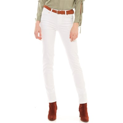 Best Mountain JEANS SLIM BIANCO